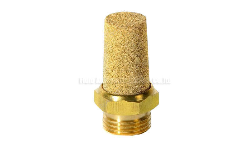 "Brass Pneumatic Silencer , M5 - 2"" Air Muffler For Pneumatic Valve"