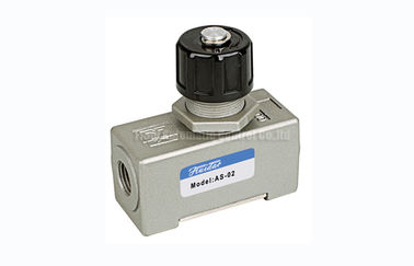 "Cina AS SMC Type One Way Pneumatic Flow Control Valve , 1670L/min G1/4"" Throttle Check Valve pabrik"