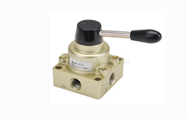 "3 Position 4 Way Pneumatic Manual Directional Control Hand Switching Valve G1/4""~G1/2"""