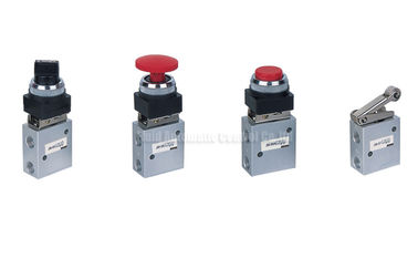Cina JM Series Two Position Three Way Mechanical Control Valve , Pneumatic Machine Control Valve Distributor